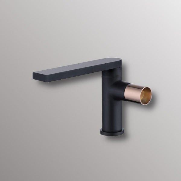 bathroom sink faucet in black finish
