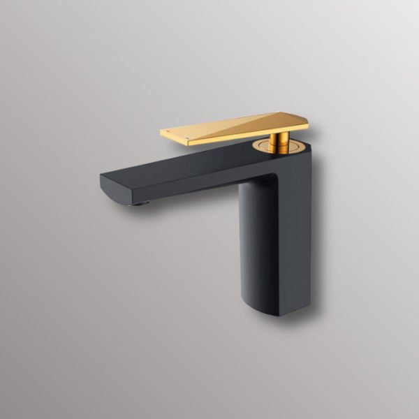 water faucet in black and gold