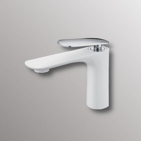 bathroom tap in white finish