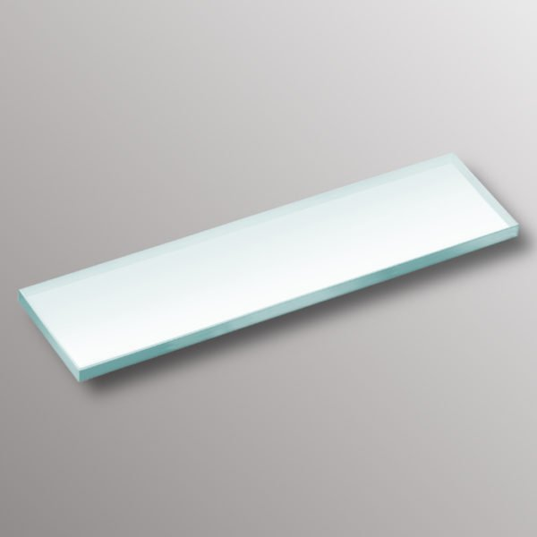 white glass shelf niche inserted