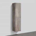 16'' reversible bathroom side cabinet Rustic Stone finish