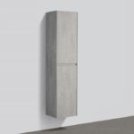 16'' reversible bathroom side cabinet Gray Stone finish