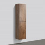 16'' reversible bathroom side cabinet Rose Wood finish