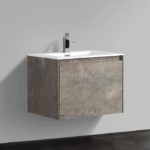 Double drawer 24'' bath vanity Rustic Stone finish
