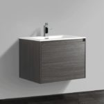 Double drawer 24'' bath vanity Graphite Wood finish