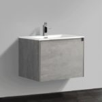Double drawer 24'' bath vanity Gray Stone finish