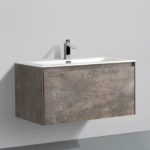 Double drawer 36'' bathroom vanity Rustic Stone finish