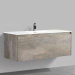 Double drawer 47'' bathroom vanity Rustic Stone finish