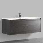 Double drawer 47'' bathroom vanity Graphite Wood finish