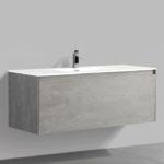 Double drawer 47'' bathroom vanity Gray Stone finish