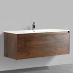 Double drawer 47'' bathroom vanity Rose Wood finish