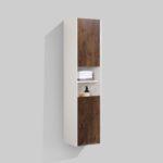 16'' reversible bath side cabinet Rose Wood finish