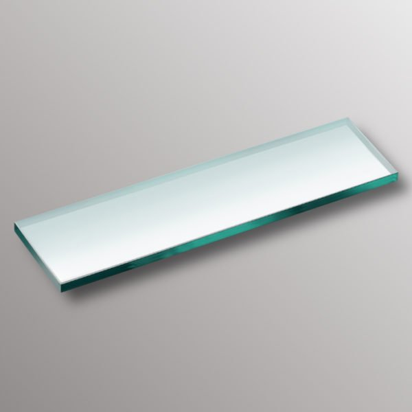 clear glass shelf niche inserted