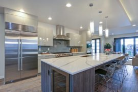 Marble Kitchen Cabinets in Schaumburg at Fusion Home Corp.