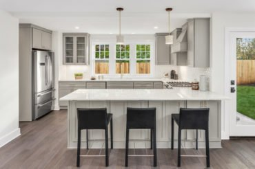 Elegant Kitchen Design in Glenview at Fusion Home Corp.