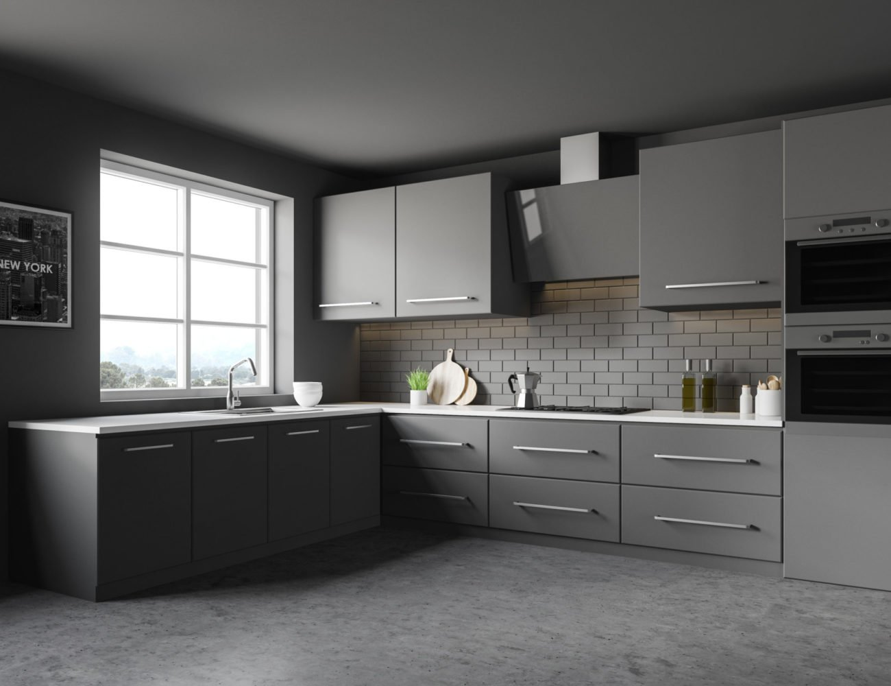 Luxury Modern Kitchen Cabinets in Glencoe at Fusion Home Corp.