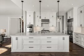 White Kitchen Cabinets in Mount Prospect at Fusion Home Corp. Corp.