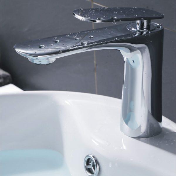 bathroom tap in chrome finish