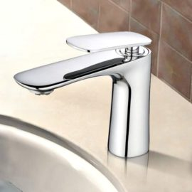bathroom tap in chrome finish