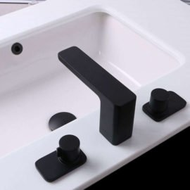 bath faucet contemporary in matte black