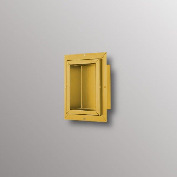 matte gold shower niche
