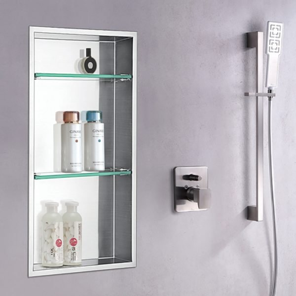 shower shelf insert niche