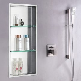 steel shower niche