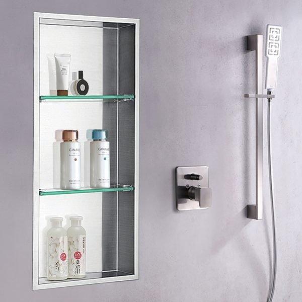 steel shower niche