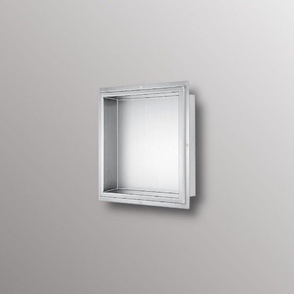 built in shower shelf niche