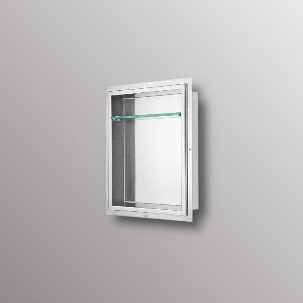 recessed shower shelf niche