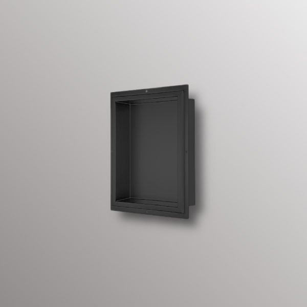 matte black wall niche