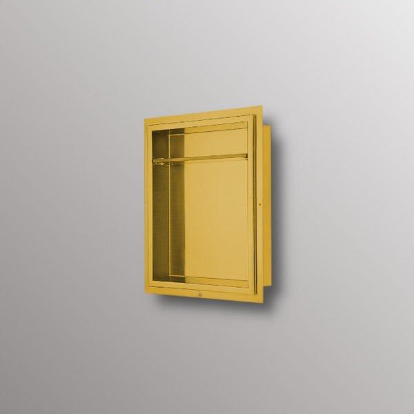 matte gold recessed niche