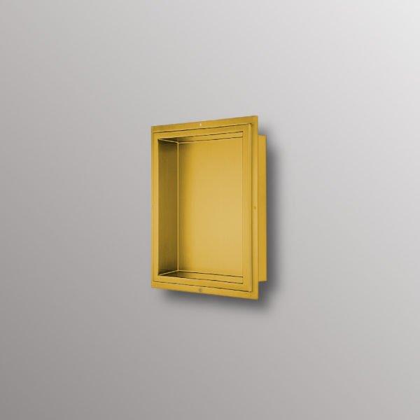 matte gold wall niche
