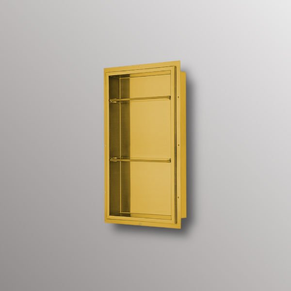 wall niche in matte gold