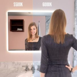 """35/""""x27/"""" Bathroom LED Mirror Anti-Fog Touch Makeup Vanity Mirror Wall Mounted NEW"""
